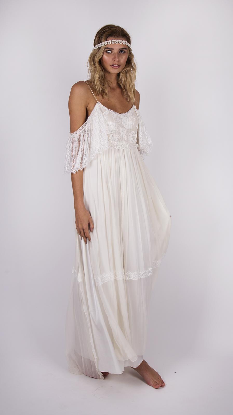 Bohemian lace wedding dress australia wedding dresses asian for Boho wedding dresses australia